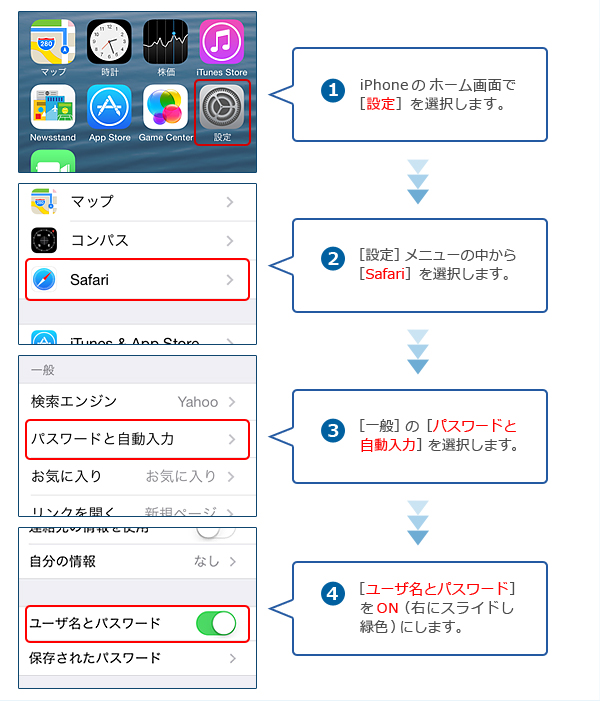 iPhone・iPadの設定