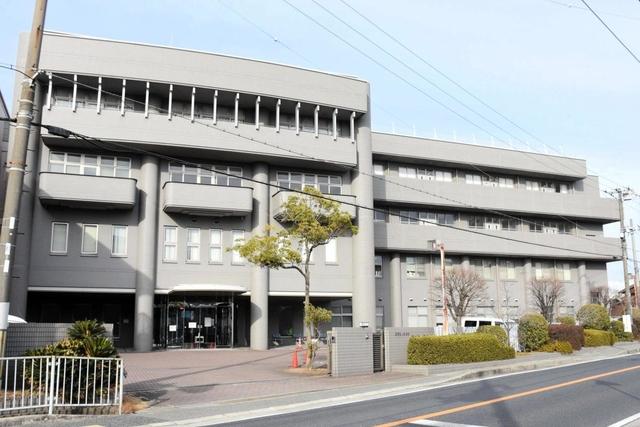 クラスターが発生した東加古川病院=加古川市平岡町新在家