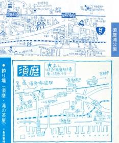 親しみやすい手描きのイラストで愛好される釣り手帳。沿線の変貌を伝える((上)2021年版、(下)初版)