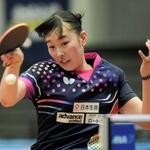 全日本選手権ジュニア女子シングルスでは16強に進出した赤江夏星=丸善インテックアリーナ大阪(撮影?後藤亮平)